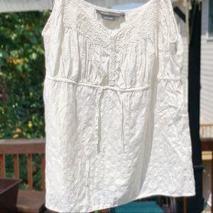 Ivory BCBG MAXAZRIA spaghetti strap top shirt S